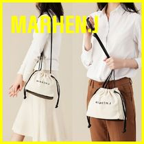 MARHEN.J Canvas Street Style Plain Shoulder Bags