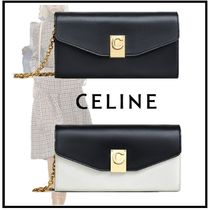 CELINE 2019-20AW C WALLET ON CHAIN IN SMOOTH CALFSKIN balck wallets