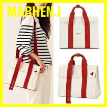 MARHEN.J Unisex Canvas Plain Shoulder Bags