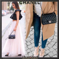 CHANEL TIMELESS CLASSICS Lambskin 3WAY Chain Plain Elegant Style Shoulder Bags