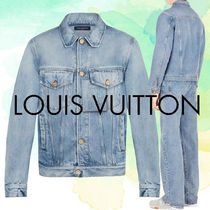 Louis Vuitton Blended Fabrics Street Style Plain Denim Jackets Jackets