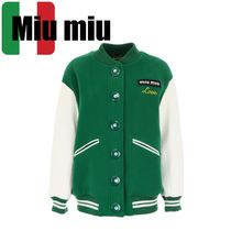 MiuMiu Short Bi-color Varsity Jackets