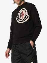 MONCLER Crew Neck Pullovers Unisex Street Style Long Sleeves Plain