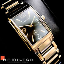 Hamilton Square Quartz Watches Stainless Office Style Analog Watches