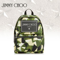 Jimmy Choo Camouflage Casual Style Unisex Backpacks