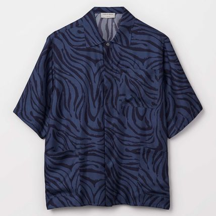 Silk Other Animal Patterns Shirts