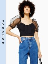 TOPSHOP Casual Style Puffed Sleeves Tops