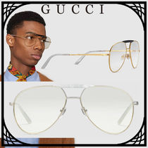 GUCCI Unisex Blended Fabrics Street Style Tear Drop Sunglasses