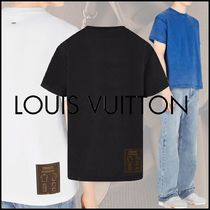 Louis Vuitton Crew Neck Pullovers Blended Fabrics Street Style Plain