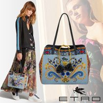 ETRO Paisley Casual Style Tassel Totes