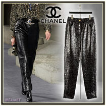 CHANEL Other Animal Patterns Leather Long Elegant Style