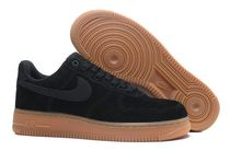 Nike AIR FORCE 1 Rubber Sole Lace-up Unisex Suede Street Style Plain Logo