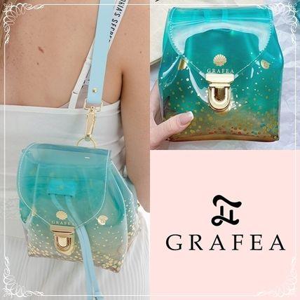 Casual Style Plain Crystal Clear Bags PVC Clothing Backpacks