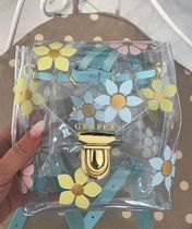 GRAFEA Flower Patterns Casual Style Plain Crystal Clear Bags