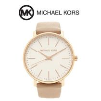 Michael Kors Leather Round Office Style Digital Watches