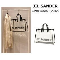 Jil Sander Casual Style Crystal Clear Bags PVC Clothing Totes
