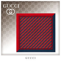 GUCCI Stripes Unisex Silk Blended Fabrics Handkerchief