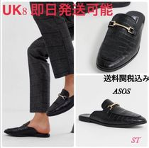 ASOS Loafers Faux Fur Street Style Plain Other Animal Patterns