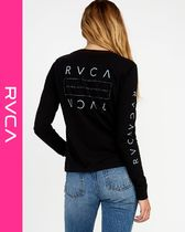 RVCA Street Style Long Sleeves Logos on the Sleeves T-Shirts