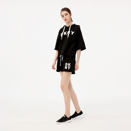 Short Casual Style Plain Co-ord Logo Shorts