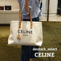 CELINE Cabas Casual Style A4 Totes