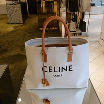 CELINE Horizontal Cabas Casual Style A4 Logo Totes