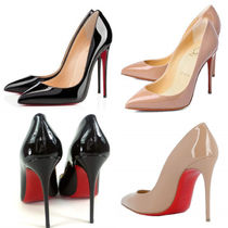 Christian Louboutin Pigalle Follies Leather Pin Heels Pointed Toe Pumps & Mules