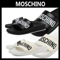 Moschino Plain Shower Shoes PVC Clothing Shower Sandals