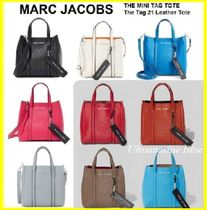 MARC JACOBS THE TAG TOTE 2WAY Plain Leather Totes