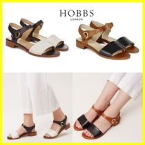 Hobbs London Open Toe Plain Leather Sandals
