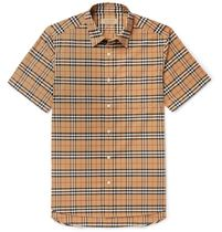 Burberry Tartan Unisex Street Style Cotton Short Sleeves Shirts