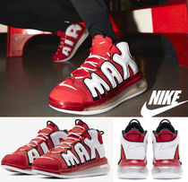 Nike AIR MORE UPTEMPO Street Style Leather Oversized Sneakers