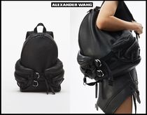 Alexander Wang Casual Style Street Style Plain Leather Backpacks
