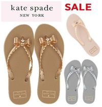 kate spade new york Rubber Sole Casual Style Plain Flip Flops PVC Clothing