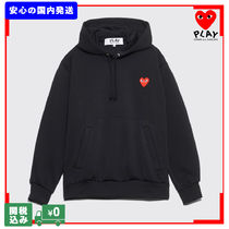 COMME des GARCONS Pullovers Heart Unisex Street Style Long Sleeves Cotton