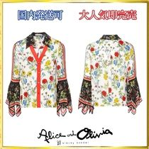 Alice+Olivia Flower Patterns Unisex Home Party Ideas Shirts & Blouses