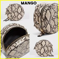 MANGO Casual Style Python Shoulder Bags