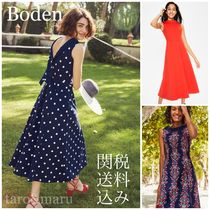 Boden Flower Patterns Dots Casual Style Sleeveless Halter Neck