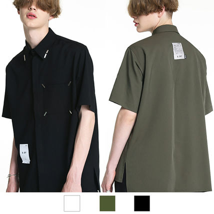 Shirts Unisex Street Style Plain Short Sleeves Oversized Logo