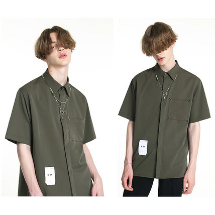 Shirts Unisex Street Style Plain Short Sleeves Oversized Logo 2