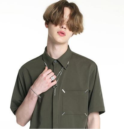 Shirts Unisex Street Style Plain Short Sleeves Oversized Logo 3