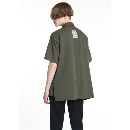 Shirts Unisex Street Style Plain Short Sleeves Oversized Logo 4