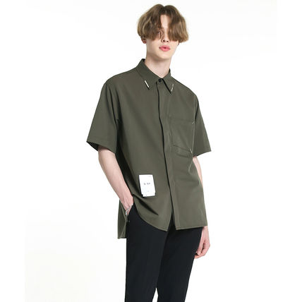 Shirts Unisex Street Style Plain Short Sleeves Oversized Logo 5