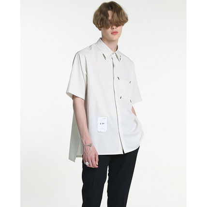 Shirts Unisex Street Style Plain Short Sleeves Oversized Logo 10