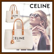 CELINE Horizontal Cabas Casual Style Canvas 2WAY Totes