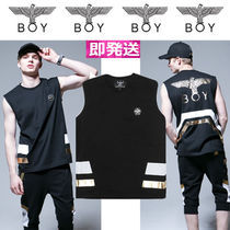 BOY LONDON Unisex Street Style Plain Cotton Tanks