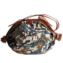 IL BISONTE Camouflage Casual Style Street Style Shoulder Bags