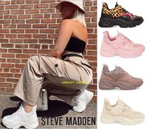 Steve Madden Open Toe Blended Fabrics Street Style Plain Low-Top Sneakers