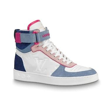 Louis Vuitton Low-Top 2019-20AW BOOMBOX SNEAKER BOOT white×brown blue×pink shoes 10