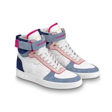 Louis Vuitton Low-Top 2019-20AW BOOMBOX SNEAKER BOOT white×brown blue×pink shoes 11